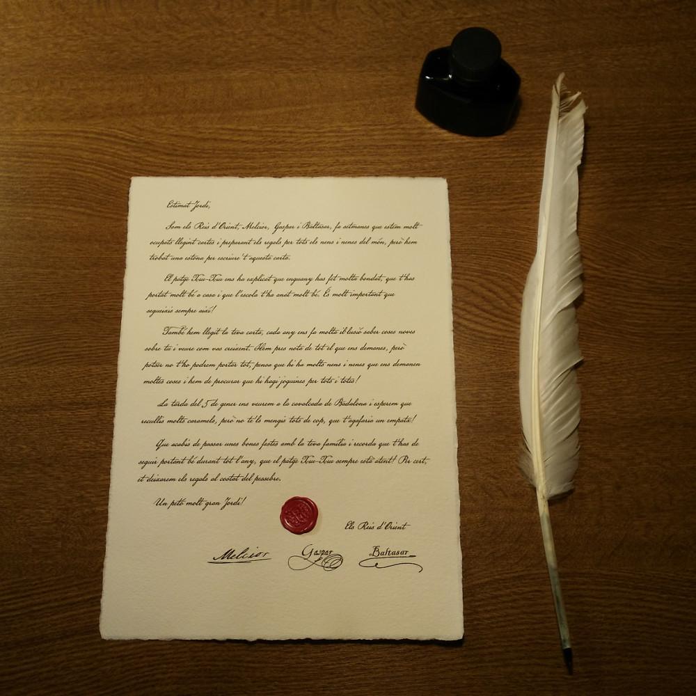 Carta de resposta dels Reis d'Orient
