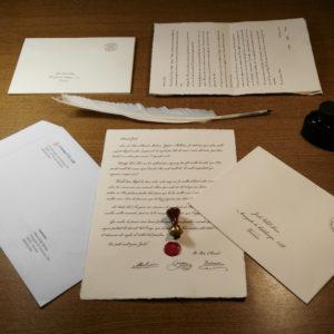Preparació de les cartes dels Reis d'Orient