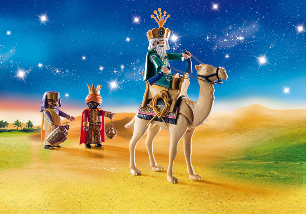 Escena del Playmobil dels Reis d'Orient