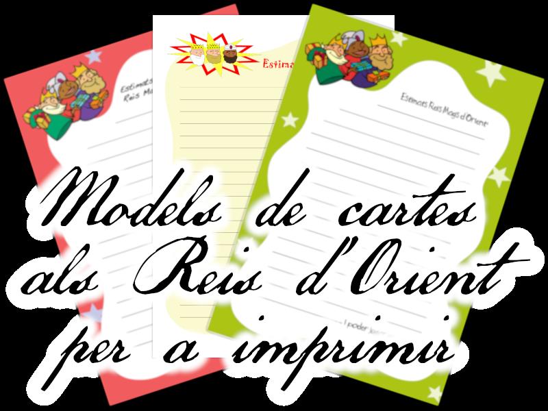 Models de cartes als Reis per a imprimir