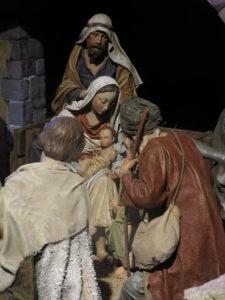 Pastors adorant a Jesús al Pessebre del Museu Frederic Marès de Barcelona