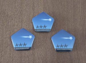 Tres xapes dels Reis seguint l'Estrella